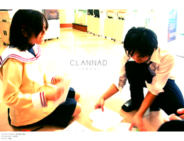 Clannad: Theatre Club Flyers by psychedelic-aya