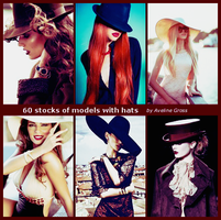 60 Stocks Models With Hats By Aveline Gross by AvelineGross