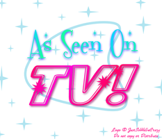 """As Seen On TV"" show logo by MU-Cheer-Girl"
