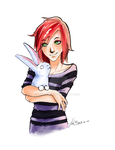 Avril and bunny by TearMyth