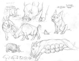 Pig sketches by Allison-beriyani