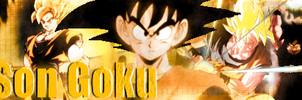 Son Goku Banner by SailorTrekkie92