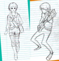 Scott Pilgrim sketches 1 by bluestraggler