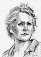 Carol from The Walking-Dead Sketch Card by Stungeon