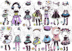 CLOSED-Pastel goth collection by Guppie-Adopts
