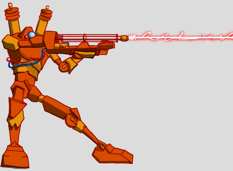 Planetary annihilation: Laser commander fan art. by thedbp