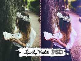 Lovely Violet -  P S D by ForeverYoung320