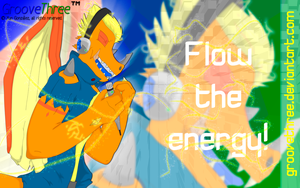Flow the energy by G3Drakoheart-Arts