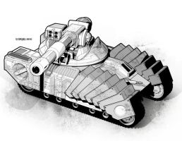 Tiger Tank by StephenHuda