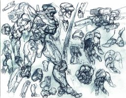 mech concepts by bordon