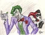 Mr. J and Harley by Bonka-chan