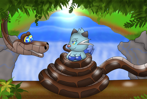 Kaa's Favourite Fishing Spot by Kiniun-Latios