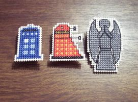 Doctor Who Cross-stitch by HopperARTZ