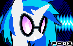 Pon-3's Face. -Wallpaper- by eklipse13