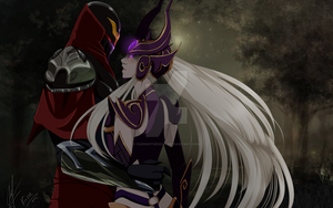 First Zed x Syndra by DarkInTheSoul