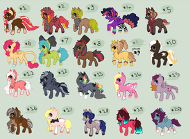 1-20 Pony adoptables qvq *LE OPEN* by REDandYELLOWZ
