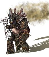 Demonprince of Nurgle by DocIwill