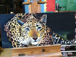 Leopard Painting by starwolf303
