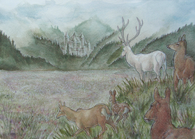 White Hart, Silver Field by Wolfyu