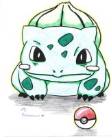 The Bashful Bulbasaur by moonfern