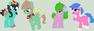 Four Ponies by Dulcet-Adopts