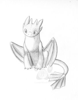 Toothless sketch by LunarBlueWolf