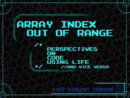Array Index Out of Range Cover Design by DeaconStone