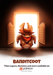 Day 1404. Banditcoot by Cryptid-Creations