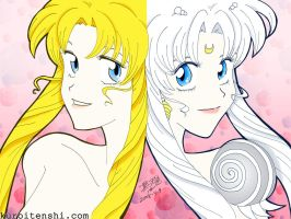 Usagi and Serenity by kuroitenshi13