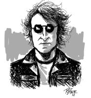 John Lennon Sketch by RADMANRB