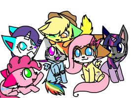 Mlp Cats by pikachu0205