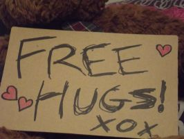 Free Hugs Close Up by Jessawary
