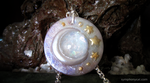 Moon and Stars Faux Opal Pendant by ShinyCation
