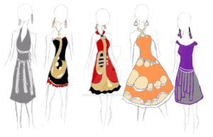 Band Geek Prom Dresses by theghostlyartist
