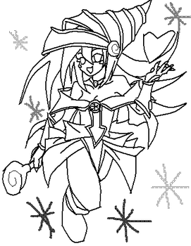 Dark Magician Girl Line Out by TheYaSeals