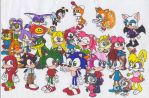 Sonic Kids comic cast by Kimmy-the-Echidna