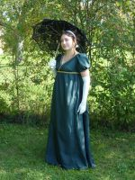 Regency Gown Green Silk by HEXEnART