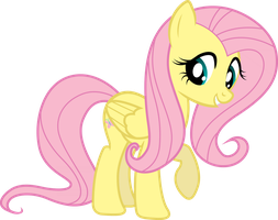 Fluttershy being cute... again. by The-Mad-Shipwright