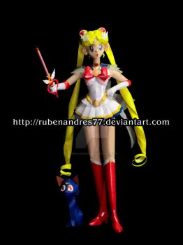 Sailor Moon paper model by Rubenandres77