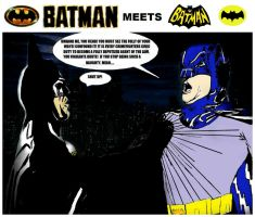 Batman meets Batman by StevenEly