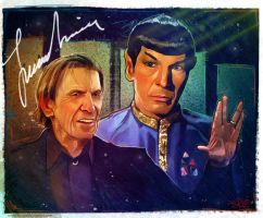Leonard Nimoy Tribute by Spaceboycomics