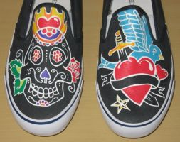 black tattoo shoes by vcallanta