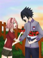 SasuSaku - A Tomato for You! by UchihaPanda