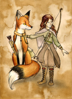 Voyage of the fox rider by FoxInShadow