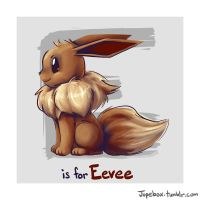 E is for Eevee by Jupeboxgal