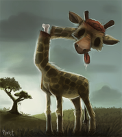 DAY 106. Zombie Giraffe (25 Minutes) by Cryptid-Creations