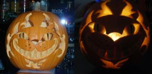 cheshire pumpkin 2010 by Ciberfriky