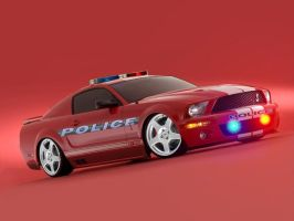 Police Mustang by rcracer