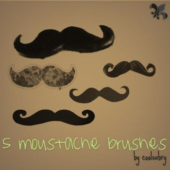 5 Moustache Brushes by CoolSabry