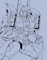 TFP Blitzwing inks by Wrecker-lady